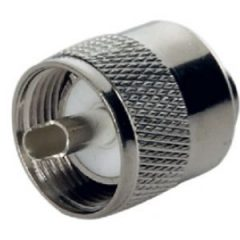 PL259 nickel plated male connector